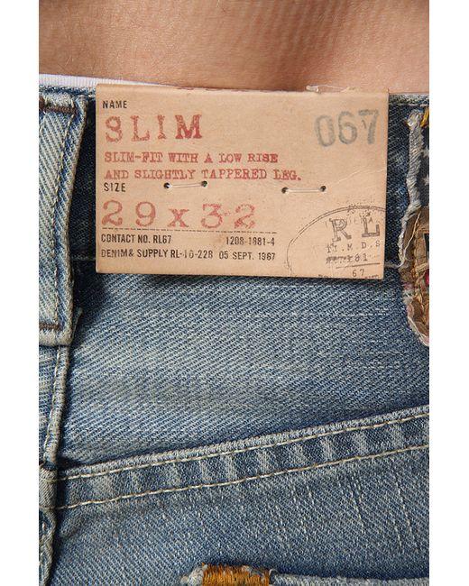 Джинсы Denim & Supply Ralph Lauren                                                                                                              синий цвет