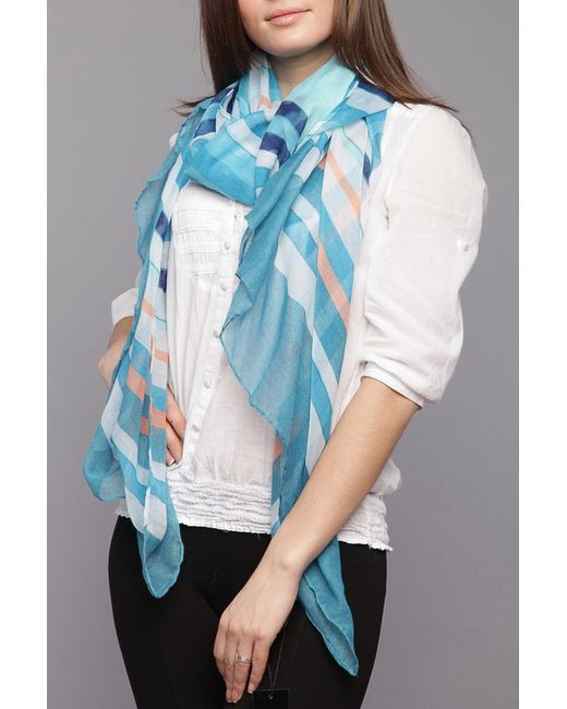Палантин Laura Milano                                                                                                              голубой цвет