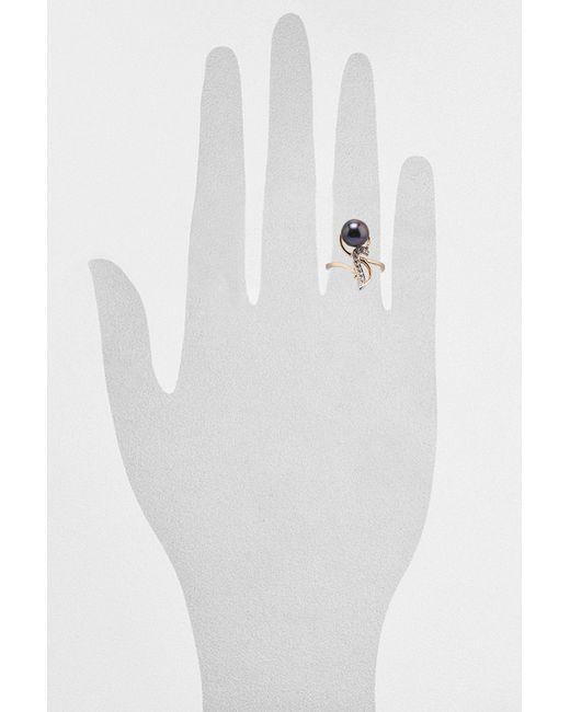 Кольцо DE FLEUR                                                                                                              чёрный цвет