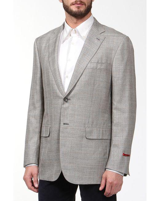 Пиджак Isaia                                                                                                              коричневый цвет