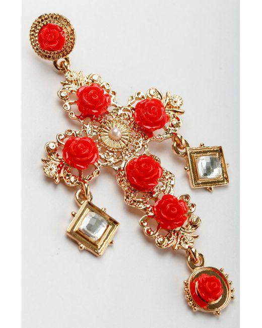 Серьги Patricia Bruni                                                                                                              красный цвет