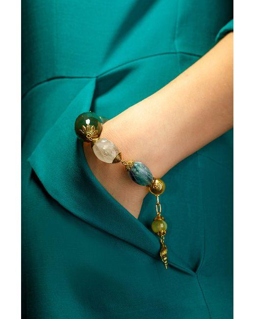 Винтажный Браслет Anastasiya Usoltseva                                                                                                              зелёный цвет