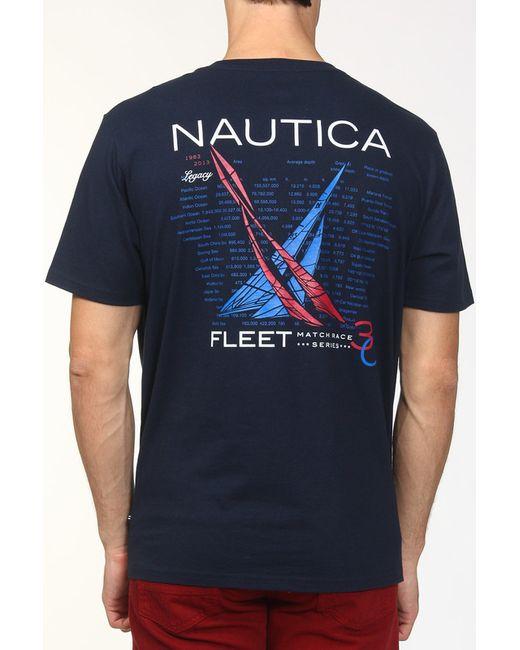 Футболка Nautica                                                                                                              синий цвет