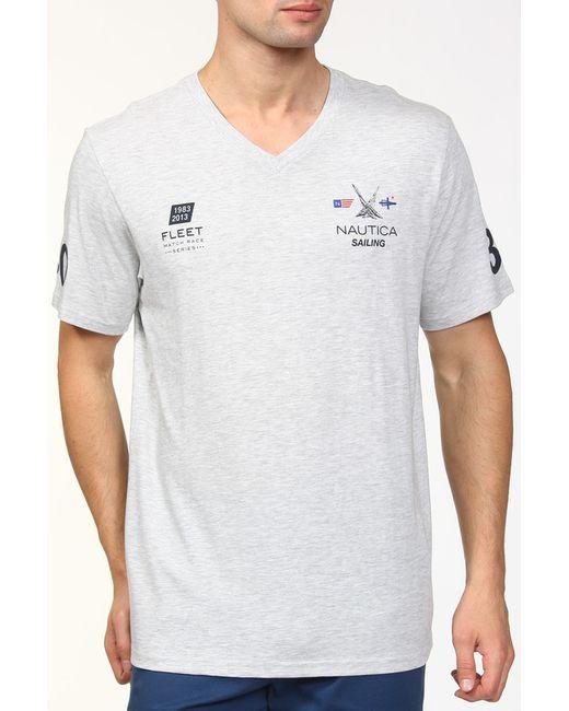 Футболка Nautica                                                                                                              серый цвет