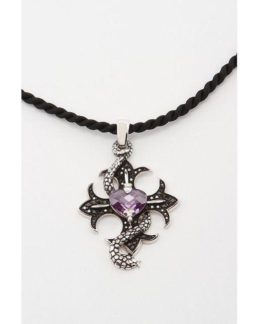 Кулон На Шнурке Charle                                                                                                              фиолетовый цвет