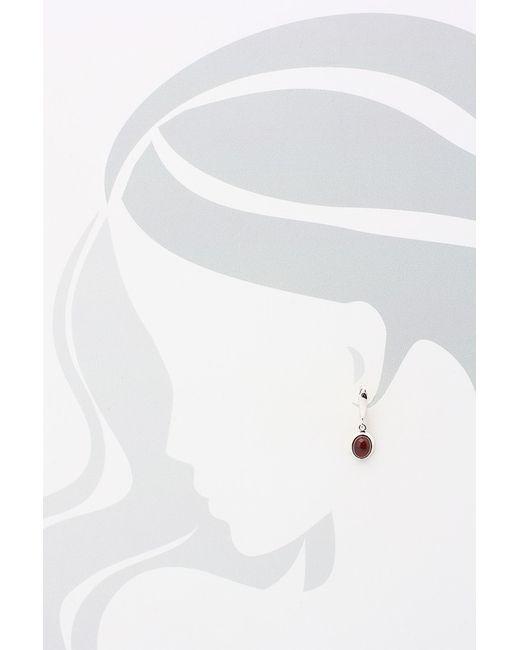 Серьги Дом Янтаря                                                                                                              красный цвет