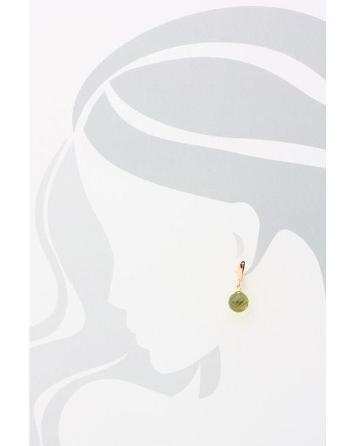 Серьги Дом Янтаря                                                                                                              зелёный цвет