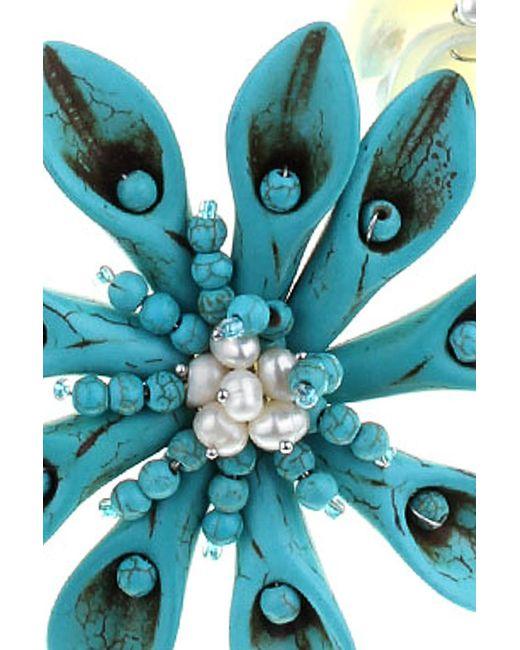 Бусы Migura                                                                                                              голубой цвет