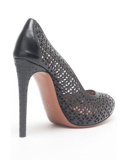 Туфли Alaïa                                                                                                              чёрный цвет