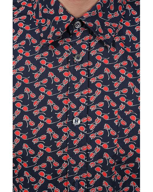 Рубашка Love Moschino                                                                                                              синий цвет