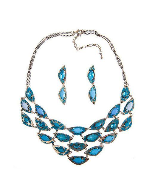 Комплект Selena                                                                                                              голубой цвет