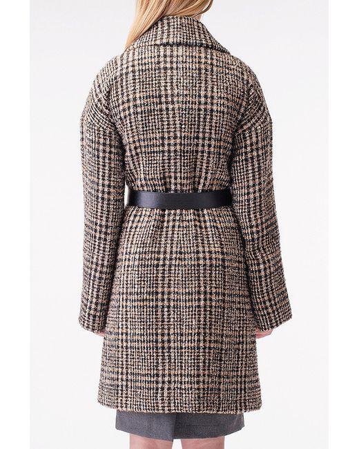 Пальто Stella Di Mare                                                                                                              коричневый цвет