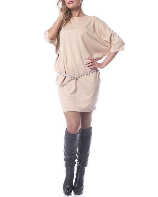 Платье OKS                                                                                                              бежевый цвет