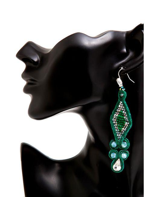 Серьги Jaffrey de Marenta                                                                                                              зелёный цвет