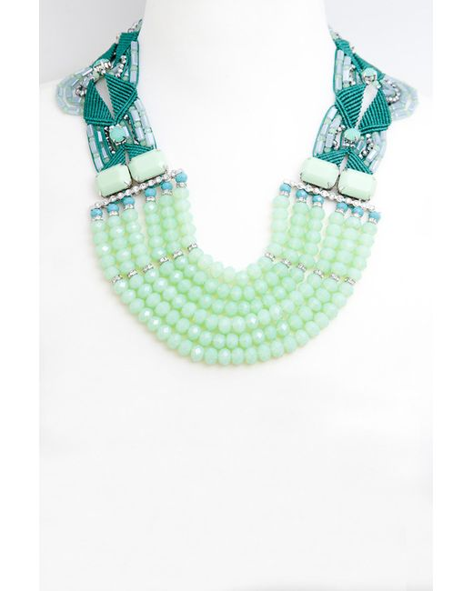 Колье Jaffrey de Marenta                                                                                                              зелёный цвет