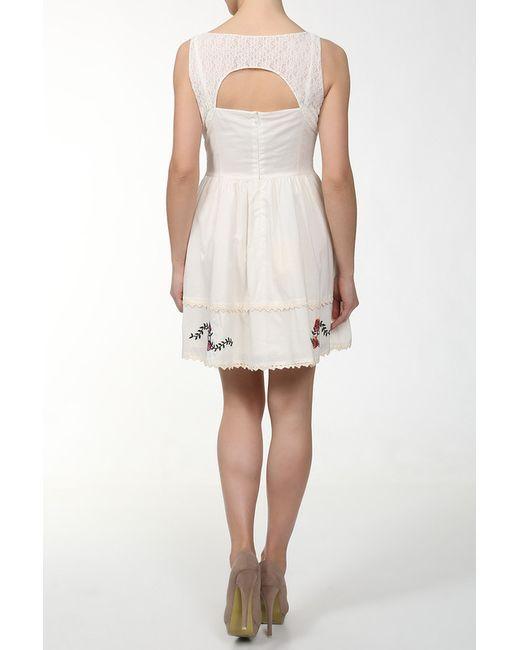 Платье Steve J & Yoni P                                                                                                              бежевый цвет