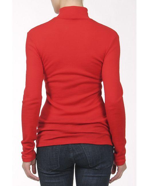 Водолазка Джерси Yohji Yamamoto                                                                                                              красный цвет