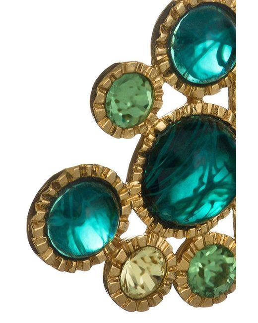 Клипсы Игра Зеленых Камней Kenneth Jay Lane                                                                                                              многоцветный цвет