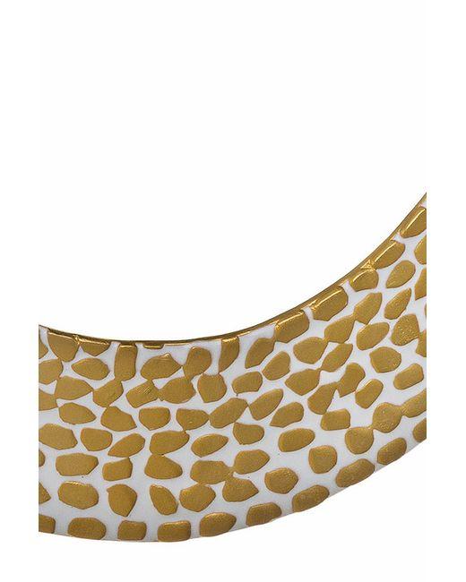 Ожерелье Золото На Белом Kenneth Jay Lane                                                                                                              многоцветный цвет