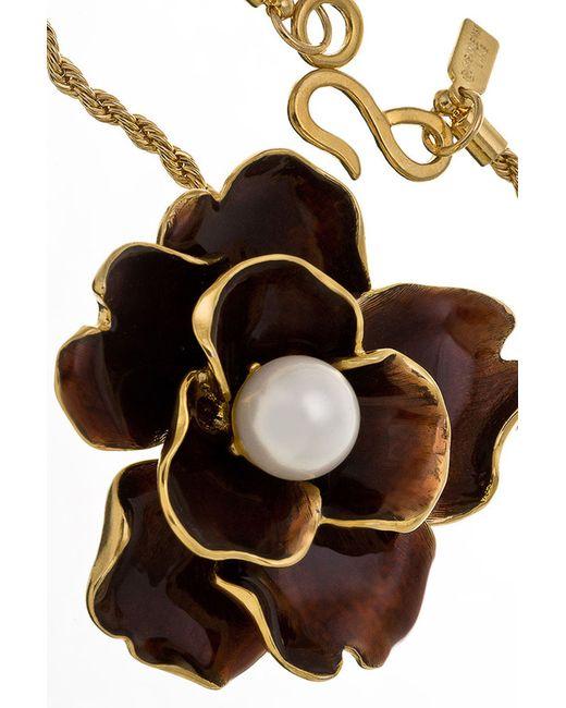 Ожерелье Цветок Коричневый Kenneth Jay Lane                                                                                                              многоцветный цвет