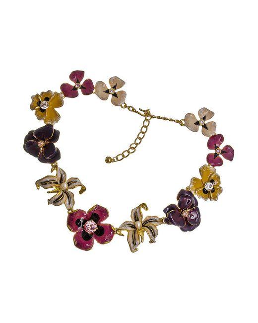Ожерелье Цветы Шанель Kenneth Jay Lane                                                                                                              многоцветный цвет