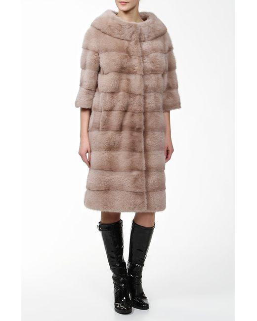 Пальто Из Норки ALBERTALLI                                                                                                              бежевый цвет