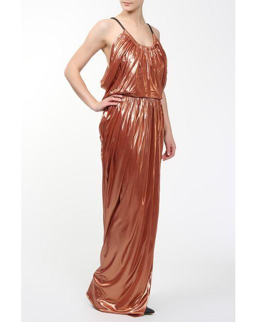 Платье Вечернее Balenciaga                                                                                                              коричневый цвет