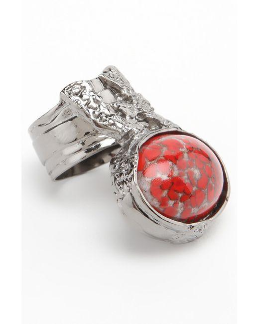 Кольцо Saint Laurent                                                                                                              красный цвет