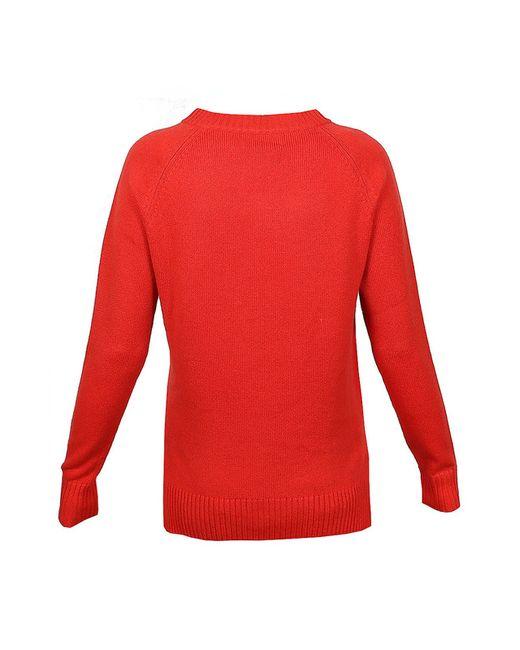 Пуловер Allude                                                                                                              красный цвет