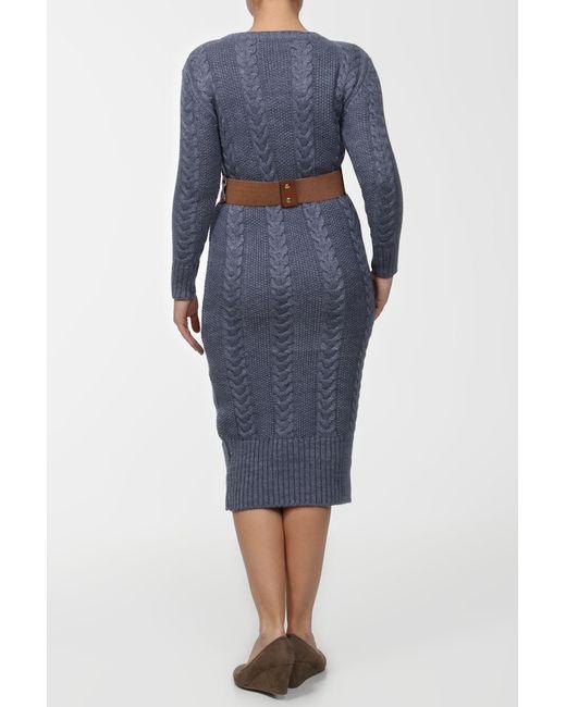 Платье С Ремнем OZGU                                                                                                              синий цвет