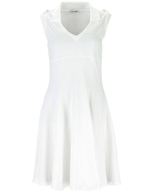 Платье Lacoste                                                                                                              белый цвет