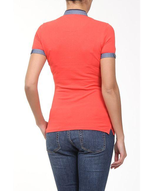 Футболка Lacoste                                                                                                              оранжевый цвет