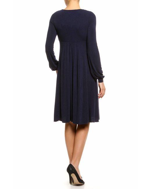 Платье Джерси Pietro Brunelli                                                                                                              синий цвет