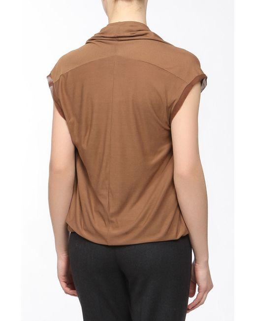 Топ Lanvin                                                                                                              коричневый цвет