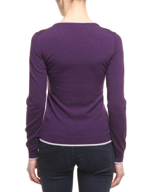 Свитер Lacoste                                                                                                              фиолетовый цвет