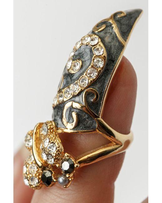 Кольцо На Ноготь Patricia Bruni                                                                                                              серый цвет