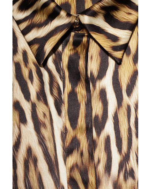 Блуза ROBERTO CAVALLI PRECOLLECTION                                                                                                              коричневый цвет