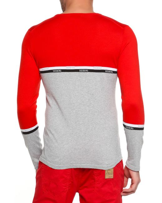 Пуловер ICEBERG                                                                                                              красный цвет