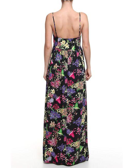 Платье Длинное Дефиле Дефиле                                                                                                              чёрный цвет