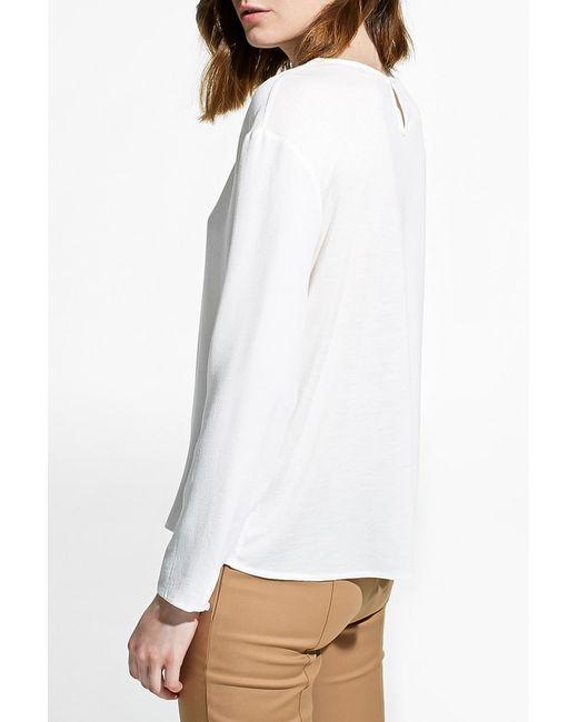 Блуза Mango                                                                                                              белый цвет