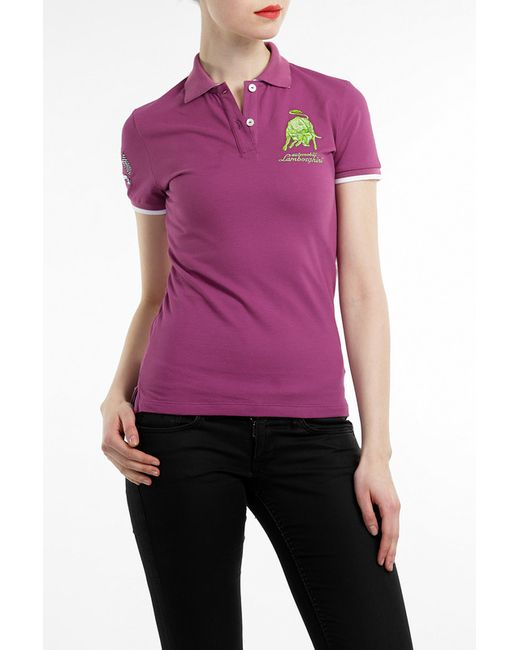 Рубашка-Поло Automobili Lamborghini                                                                                                              фиолетовый цвет