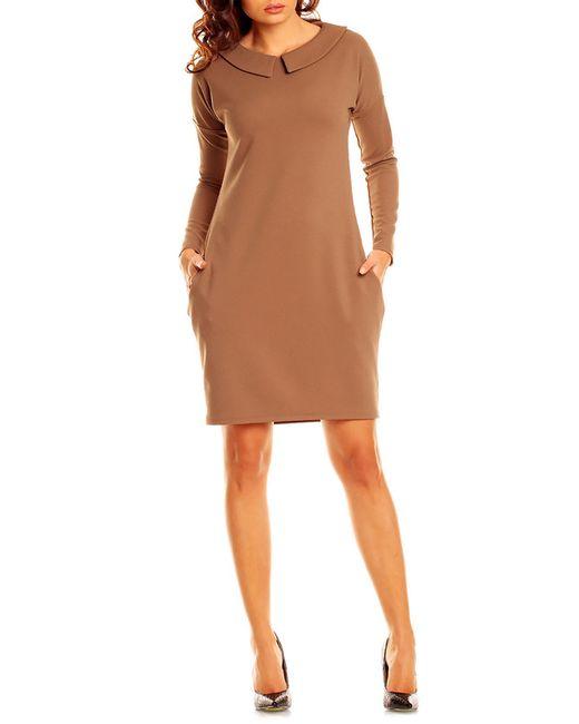 Платье NOMMO                                                                                                              коричневый цвет