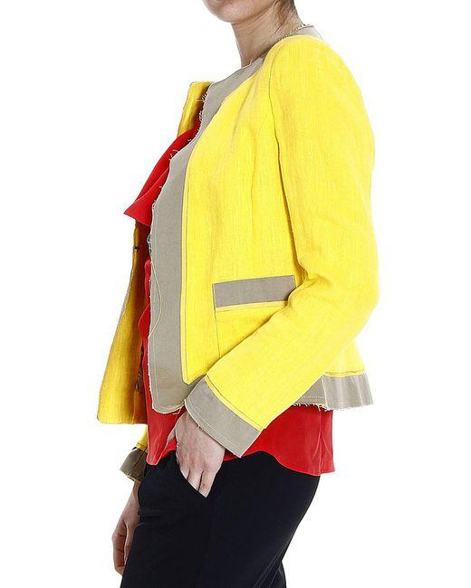 Блейзер Femme                                                                                                              желтый цвет