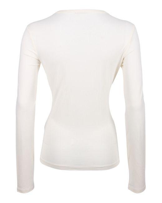 Лонгслив Galliano                                                                                                              белый цвет