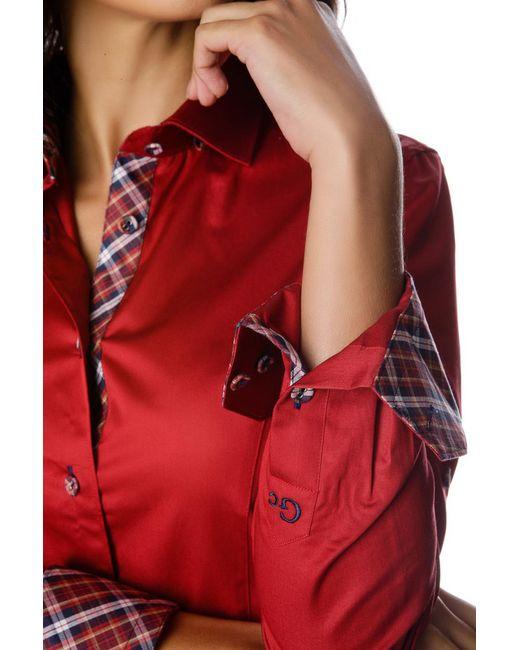 Рубашка Gazoil                                                                                                              красный цвет