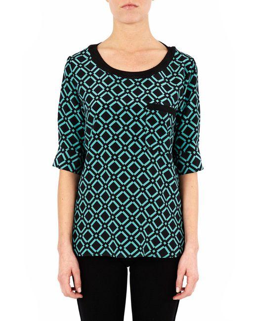 Блузка ATOS LOMBARDINI                                                                                                              зелёный цвет