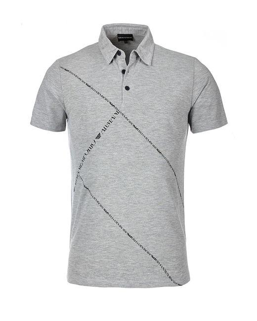 Рубашка-Поло Emporio Armani                                                                                                              серый цвет