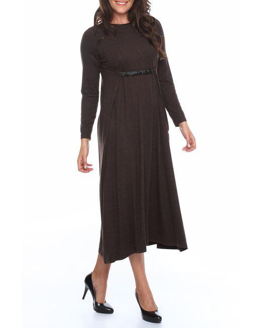 Платье Zer Otanik                                                                                                              коричневый цвет