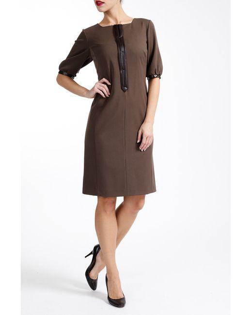 Платье Paola Collection                                                                                                              коричневый цвет