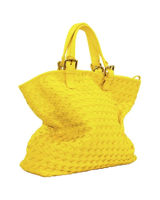 Сумка pelle Italia                                                                                                              желтый цвет
